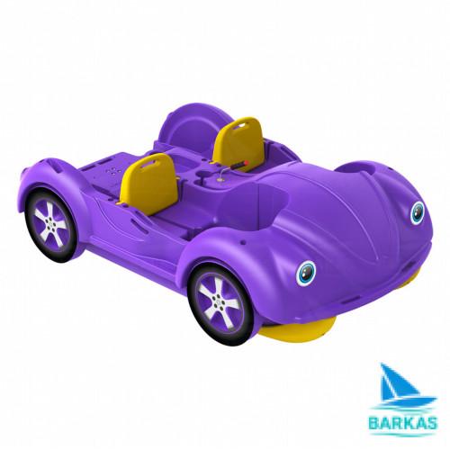 Водный велосипед mini Beetle фиолетово-желтый