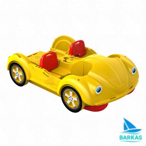 Водный велосипед mini Beetle красно-желтый