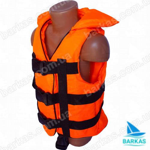 Страховочный жилет BARKAS 30-50 кг оранжево-синий детский