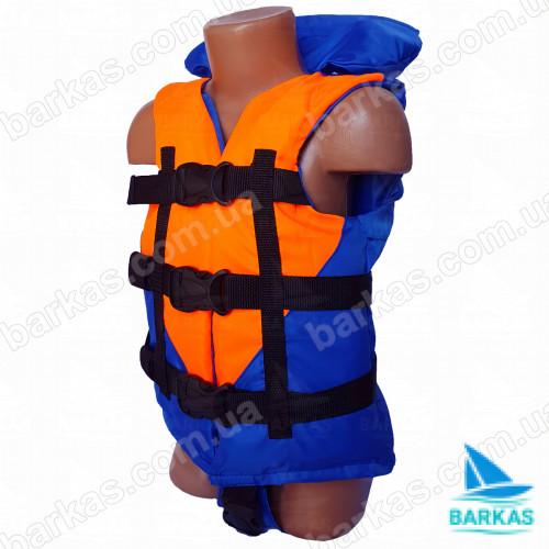 Страховочный жилет BARKAS 15-30 кг оранжево-синий детский