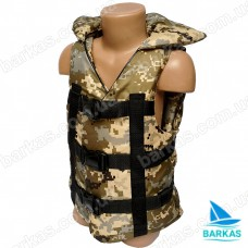 Страховочный жилет BARKAS 30-50 кг детский камуфляж