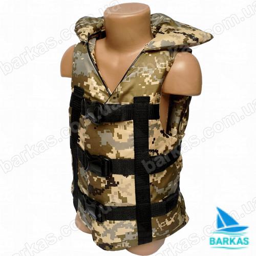 Страховочный жилет BARKAS 30-50 кг камуфляж детский