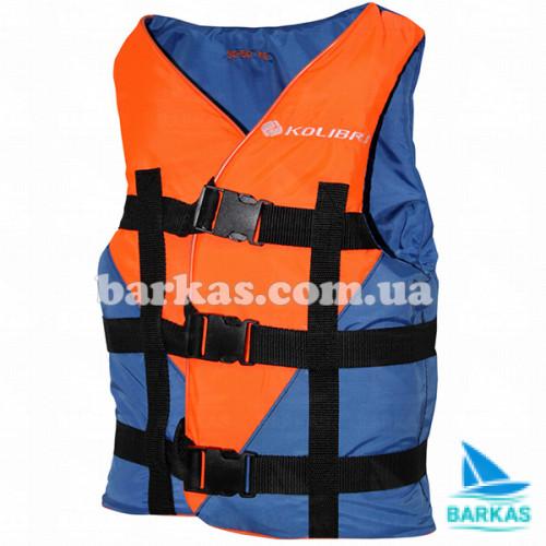 Страховочный жилет 110-130 кг KOLIBRI оранжево-синий